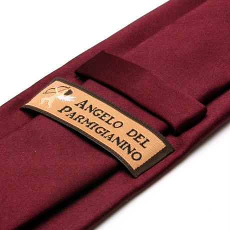 アンジェロ -「 愛が伝わる」天使のネクタイ 京都西陣産生地 シルクサテン ワインカラー AGS01