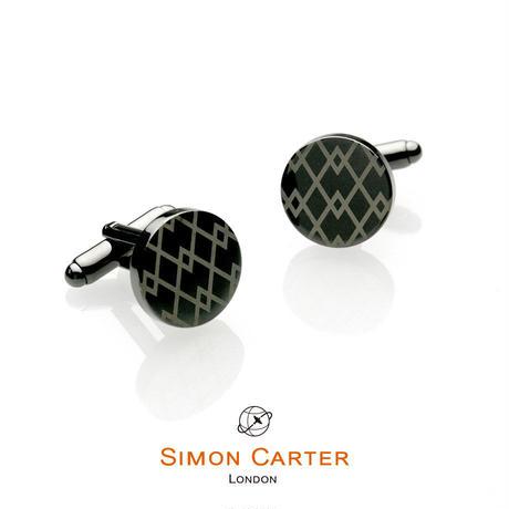 サイモンカーター(ウエストエンド) - 英国製 カフリンクス アーガイルガンメタル 267007