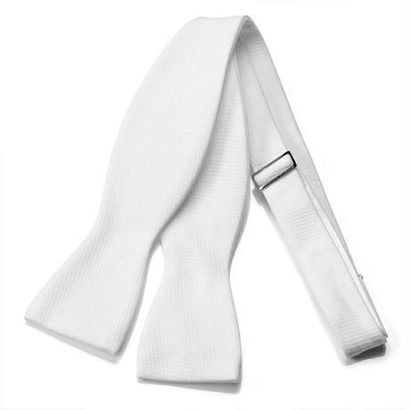 【燕尾服用】ボウタイ(蝶ネクタイ)手結びタイプ ホワイト綿ピケ MT-W
