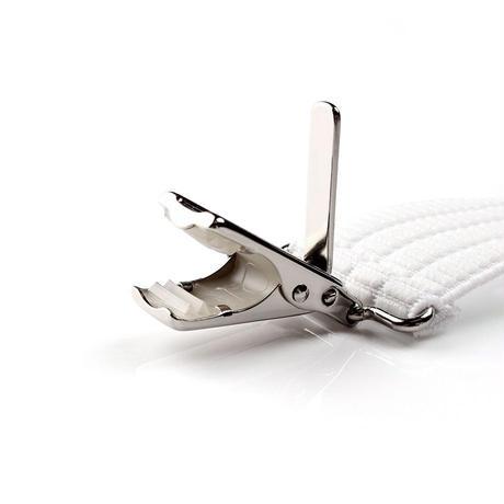 フォーマル用サスペンダー クリップ式 白ゴム 燕尾服用 SR-101