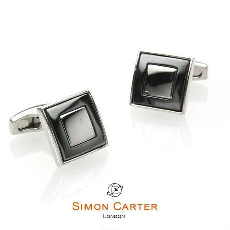 サイモンカーター - 英国製 カフリンクス スクエアモート グレー 267029