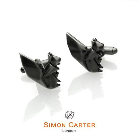 サイモンカーター(ウエストエンド) - 英国製 カフリンクス オリガミ・スクワール 267019