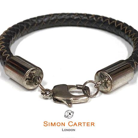 サイモンカーター - 英国製 レザーブレスレット 261201/1 ブラック