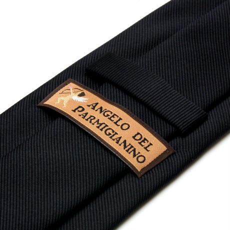 アンジェロ -「 愛が伝わる」天使のネクタイ 京都西陣産 ツイル無地 ダークネイビーカラー AGS01