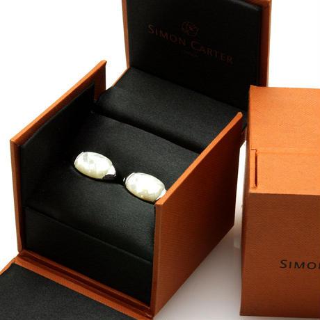 サイモンカーター - 英国製 カフリンクス ガーキン 白蝶貝 267018