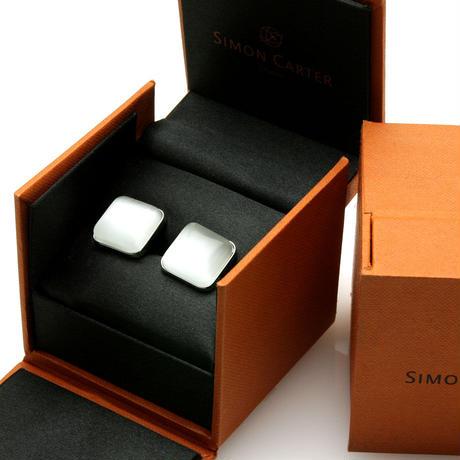 サイモンカーター - 英国製 カフリンクス キャッツアイ ホワイト 267014