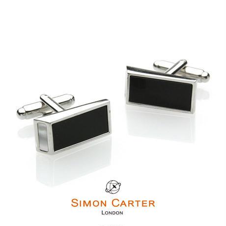 サイモンカーター - 英国製 カフリンクス ウェッジ オニキス 267028