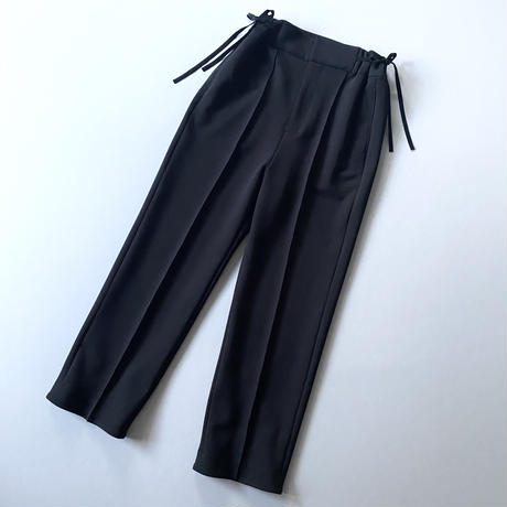 5. 〔plain〕 Side ribbon knit slacks 〔内金50%〕