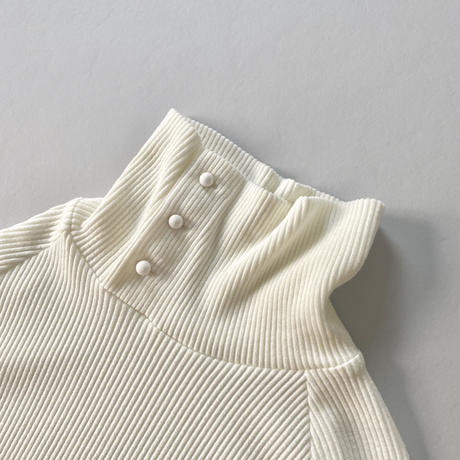 6. 〔plain〕 Rib knit dress 〔cream〕【全額】