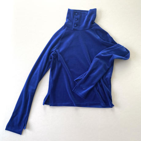 7. 〔plain〕 High neck velour tops