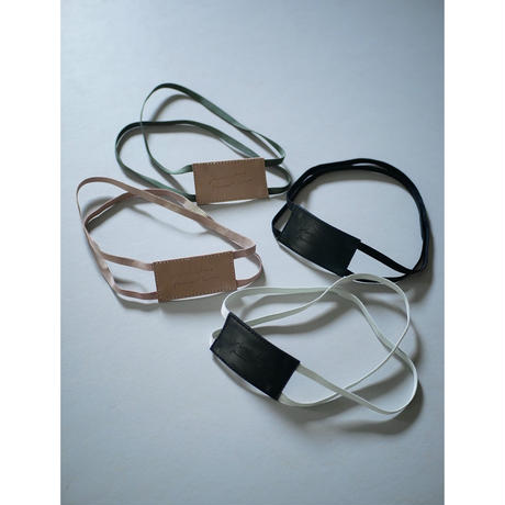〔trousse〕leather rubber band