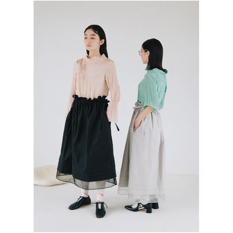 〔plain〕volume tuck skirt