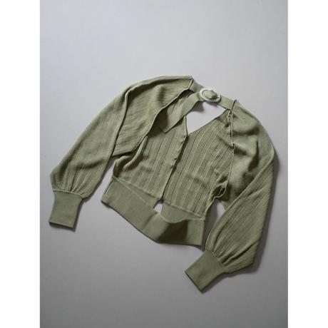 〔plain〕sherbet sleeve cardigan