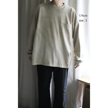 P A C S - Pigment Dyed Double Collar L/S Tshirts