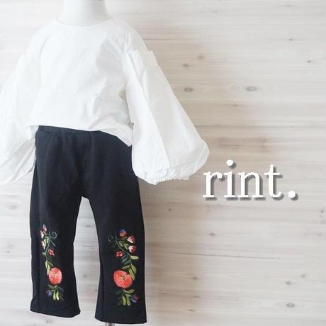 *新作*THEN AND THEM  お花刺繍パンツ《90~140》