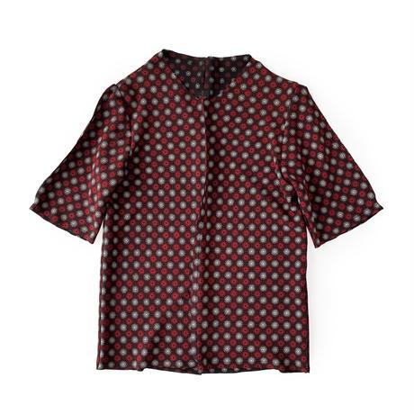 燐シャツ七分袖 〈ちりめん水紋〉 men's