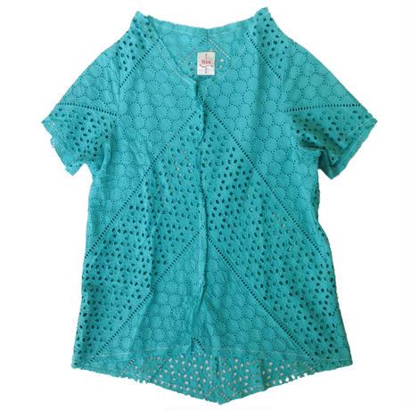 燐シャツ 半袖 〈ブルーレース〉