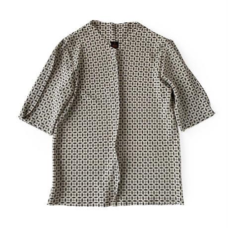 燐シャツ七分袖 〈ちりめん七宝〉 men's