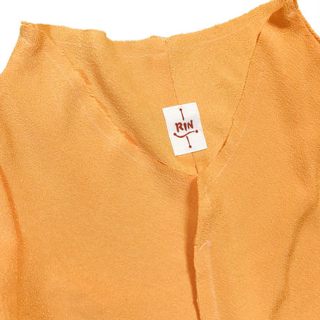 燐シャツ 七分袖 〈ちりめん ひまわり〉
