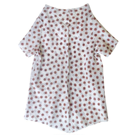 燐シャツ 半袖 〈花橙〉