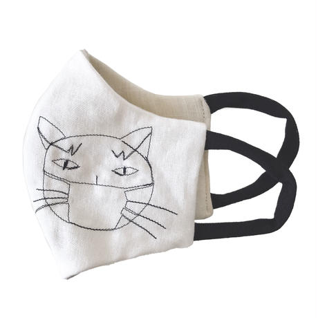 燐のガーゼマスク マスク猫