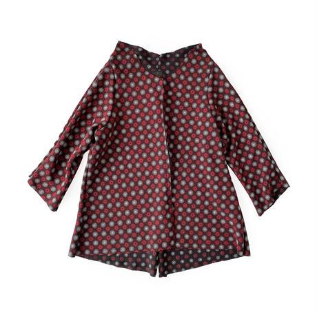 燐シャツ七分袖 〈ちりめん水紋〉