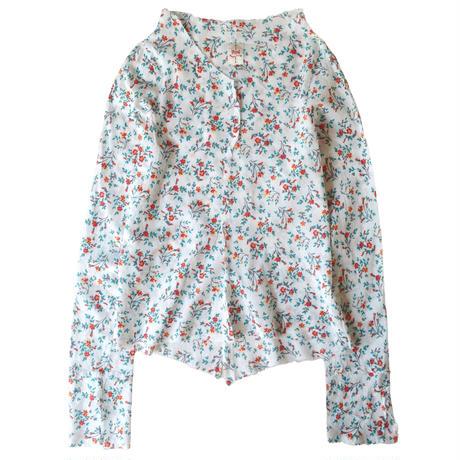 シャツ 長袖 〈小花〉