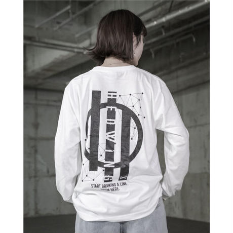 Connecting the dots / HEDWiNG コラボロングスリーブTシャツ ホワイト