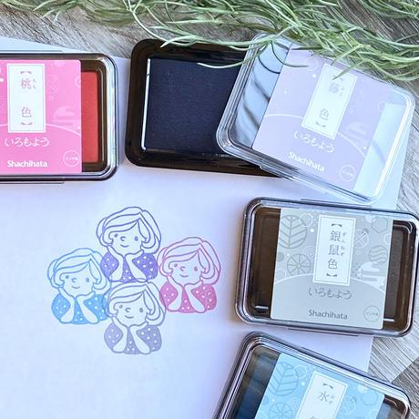 【春色4色セット】シャチハタいろもよう☆RiraRiraはんこのおススメインクパッド紙用
