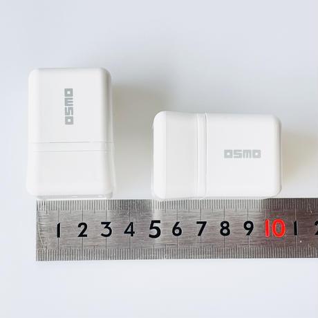 【みました】デザインそのままシャチハタはんこ【20mm角】☆浸透印 (赤インク)*O_20m