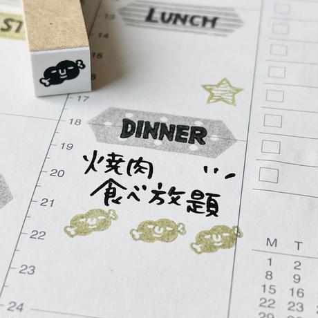【お肉】スケジュールはんこ*10㎜角