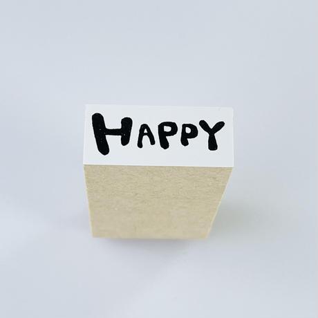 【HAPPY】文字はんこ*12×28㎜*ラバースタンプ* R476_o