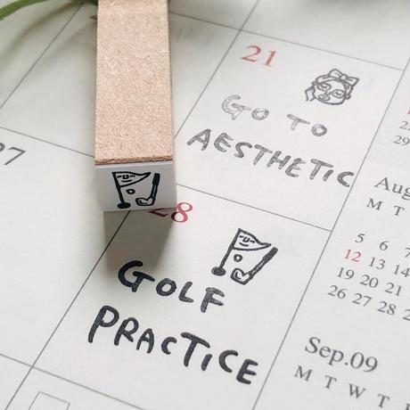 【ゴルフ】スケジュールはんこ*10㎜角