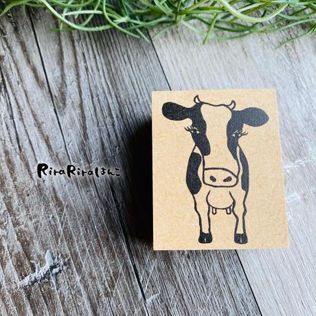 *次回再販予定は12月中旬です【丑年・年賀状】牛のモンローちゃん♡ ラバースタンプ*4.0㎝×5.0㎝