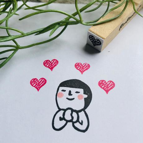 【ギザギザ♡ハート】スケジュールはんこ*10㎜角
