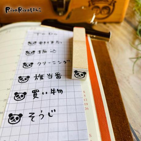 ミニミニ*パンダ 顔だけ【10㎜角  】ラバースタンプ