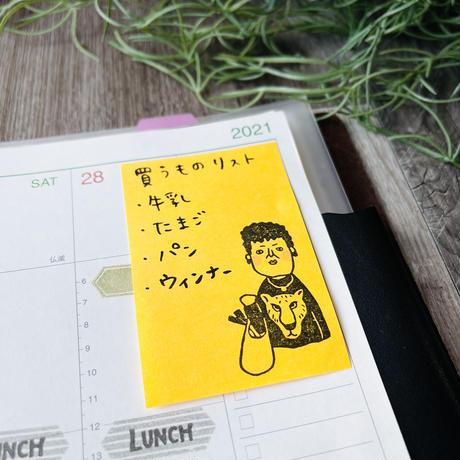 大阪のおばちゃん「関さん」*ラバースタンプ  30㎜×48㎜