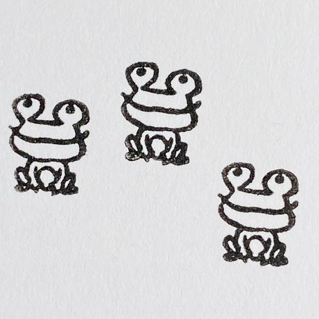 【カエルくん】スケジュールはんこ*10㎜角