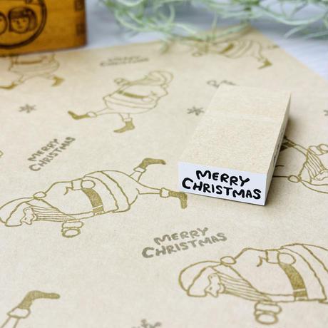 MerryChristmas(メリークリスマス)*文字はんこ*12㎜×28㎜*ラバースタンプ【リニューアル】