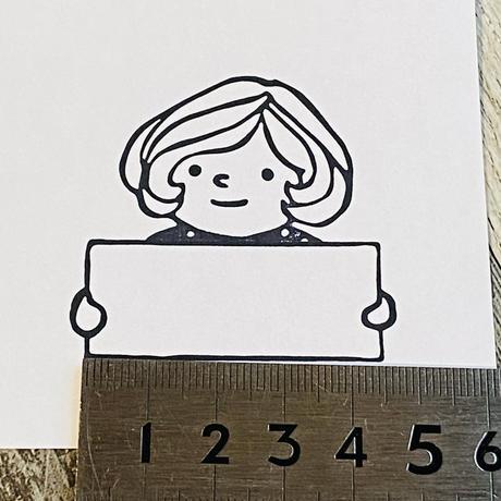 【50mm角】マロンちゃんメの一言メモ 50㎜×50㎜☆浸透印【黒インク】