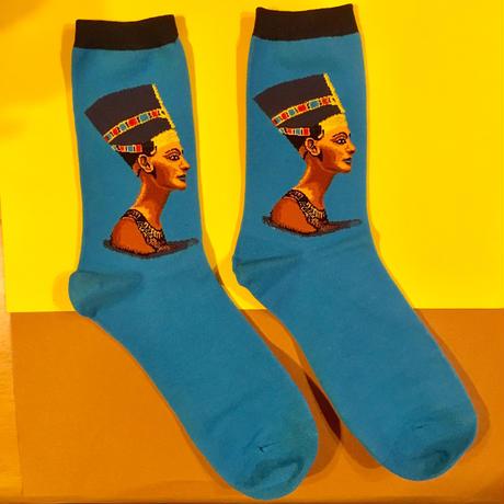 クレオパトラ 青  靴下 ソックス CLEOPATRA SOCKS  BLUE
