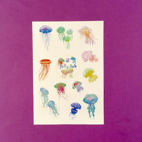クラゲ シール ② JELLYFISH STICKER