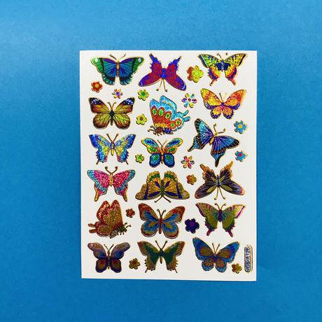 蝶々 ④ キラキラ シール BUTTERFLY STICKER