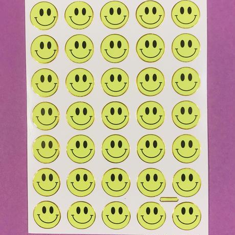 スマイル 黄色 蛍光 ② シール SMILE STICKER NEON YELLOW