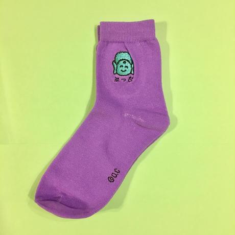 ブッダ 靴下 刺繍 紫 BUDDHA SOCKS PURPLE