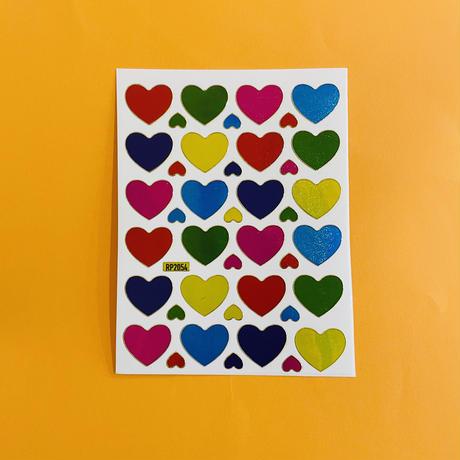 ハート カラフル ⑥ キラキラ シール COLORFUL HEART STICKER