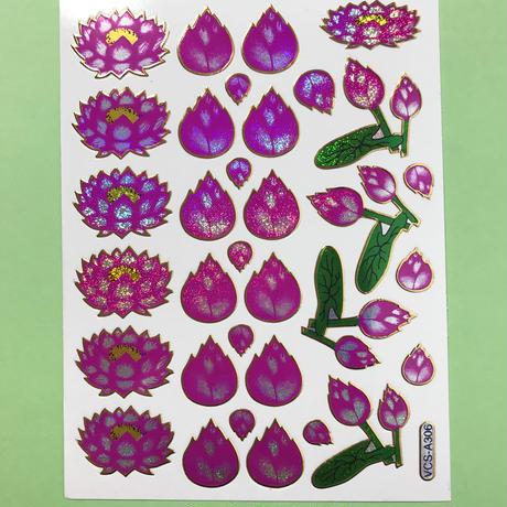 蓮の花 キラキラ シール LOTUS FLOWER STICKER