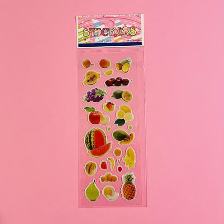 フルーツ② ぷっくりシール FRUIT STICKER