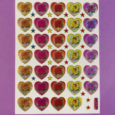 ハートの中に薔薇 シール ROSE INSIDE HEART STICKER