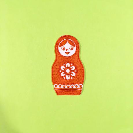 マトリョーシカ オレンジ アイロンワッペン Matryoshka Patch Orange
